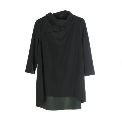 turtle neck midi dress khaki